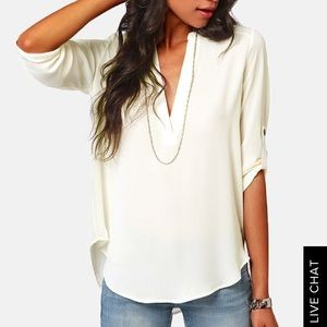 Lush - Top in White (Size XS)